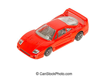 One toy car, red sportscar