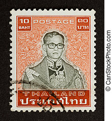 THAILAND - CIRCA 1970: Stamp printed in Thailand shows a...