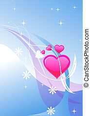 Valentine background - A simple background with text space...