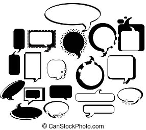Set of design elements s - set of speech bubble design...