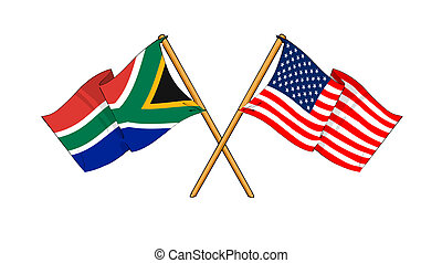 America and South Africa alliance and friendship -...