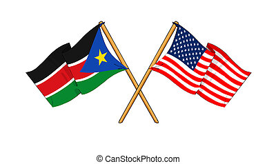 America and South Sudan alliance and friendship -...