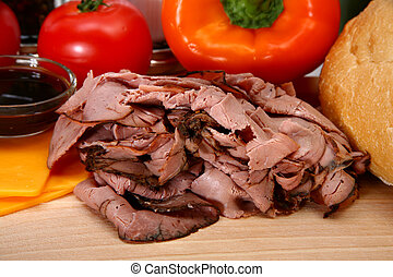 Angus Roast Beef Sandwhich Ingredients - Makings of a roast...