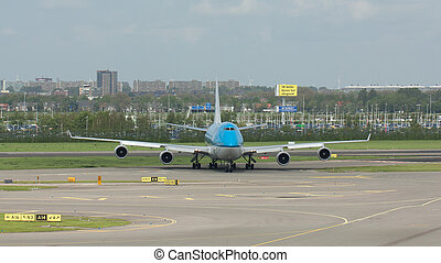 KLM Boeing 747-400 - AMSTERDAM - MAY 11: KLM Royal Dutch...