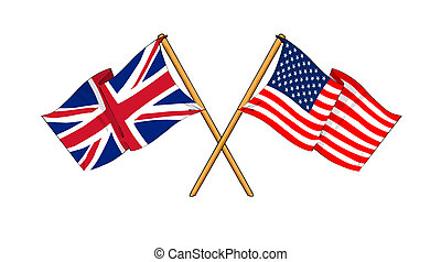 America and United Kingdom alliance and friendship -...