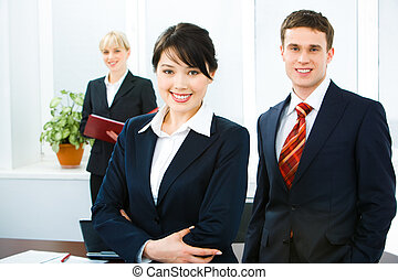 Smiling people - Portrait of confident business people...