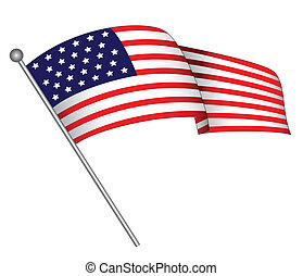 Waving Flag - A waving flag The star spangled banner has...