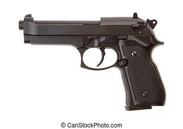 semi-automático, arma, isolado