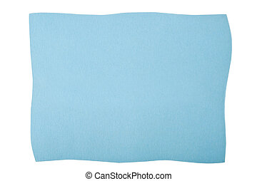 blue paperboard isolated on white