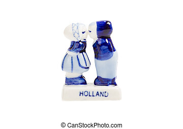 Typical dutch delft blue ceramic