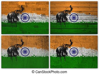 Indian flag collage