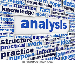 Analysis poster scientific background. Research and...