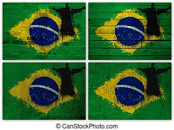Brazilian flag collage