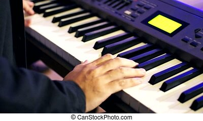 Piano Playing No 03 - Hand Playing Piano