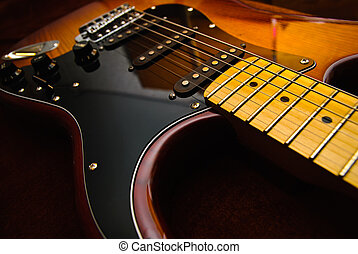 Electric guitar - Close-up photo of electric guitar