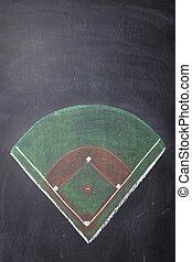 Chalkboard Baseball Field