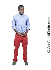 Teenage Boy - Handsome and young black African American...