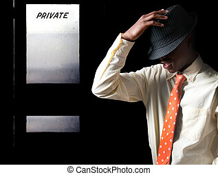 Black Teenage Man in Fedora - Attractive handsome teenage...