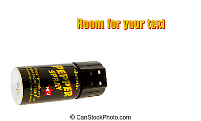German can of pepper spray, room for text - German can of...