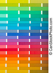 Vector colour card paper with various colors