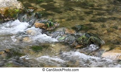 River - Small creek with churning water