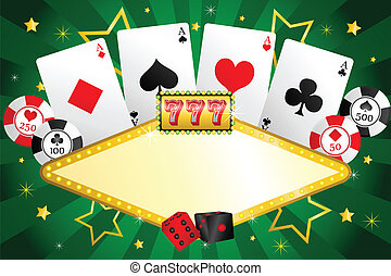 Gambling background - A vector illustration of gambling...