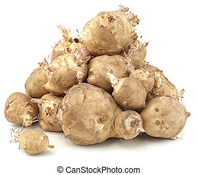 Sunchoke vegetable - Heap of Sunchoke Vegetable, Helianthus...