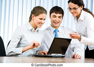 Business communication - Photo of business team sitting in...