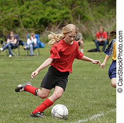 Soccer Player in Action 7 - Youth Soccer player ready to...