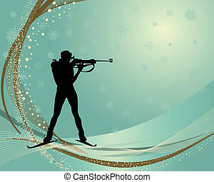 biathlon athlete - Sport background with biathlon athlete....