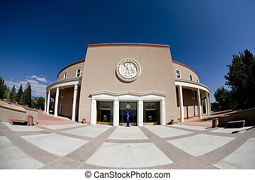 State Capital of New Mexico. - State Capital building in...