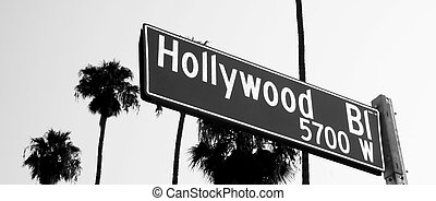 Hollywood Blvd Sign in Los Angeles California