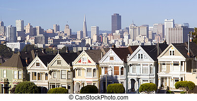 San Franciso Buildings - San Francisco community stands in...