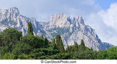 Crimea mountain. - Ay Petri mountain.