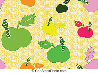 Seamless background with apples