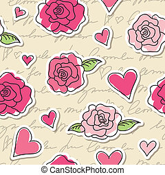 seamless pattern of roses