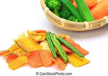 vegetable chip - I took vegetables tip in a white...