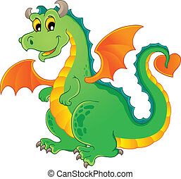 Dragon theme image 1 - vector illustration