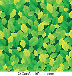 Leafy seamless background 1 - vector illustration