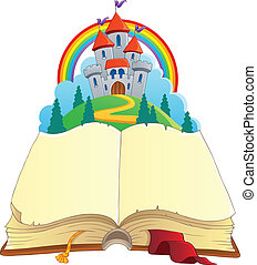 Fairy tale book theme image 1 - vector illustration.