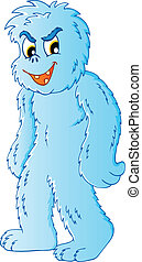 Yeti theme image 1 - vector illustration