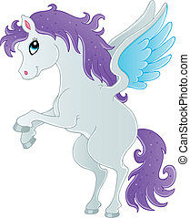 Fairy tale pegasus theme image 1 - vector illustration