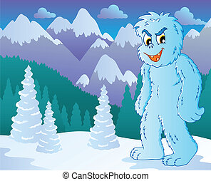 Yeti theme image 2 - vector illustration.