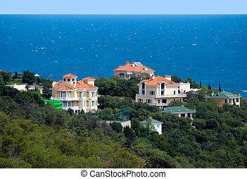 Villa by the sea.