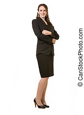 Young professional woman - Full body of an attractive young...