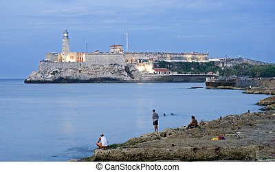 malecon - El morro castle on the oposite of malecon - cuba