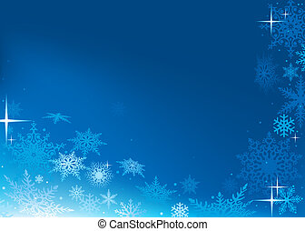 Abstract Xmas Background - Blue Abstract Xmas Background -...