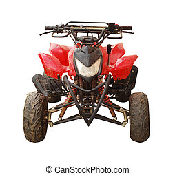 all terrain vehicle - quad bike isolated on white
