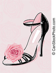 Fashion shoe - Chic couture red fashion shoe vector...