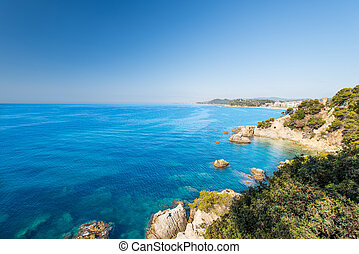 Coast of Costa Brava - Waterfront of Lloret de Mar Costa...
